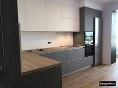 Kitchen Layout Interior, Kitchen Pantry Design, Modern Kitchen Interiors, Contemporary Kitchen Design, Best Kitchen Designs, Home Decor Kitchen, Kitchen Furniture, Furniture Design, Built In Kitchen Bins