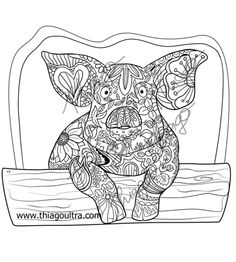 16 Best Farm animal digi and coloring pages images in 2014