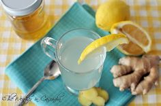 Ginger, lemon, and honey infusion. Feels great on a sore throat & helps break up congestion.