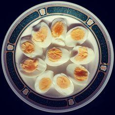 Egg with tea