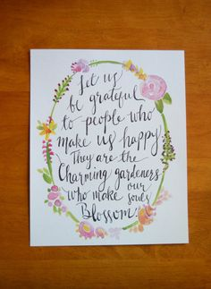 Modern Calligraphy Watercolor Print  Charming by PennyhousePress, $12.00