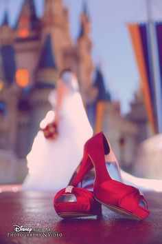 This fairy tale photo is a great way to show off a stunning pair of heels. maybe one shoe ? : )