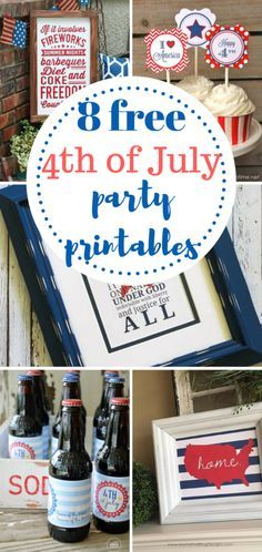 Free Fourth of July printables.  Summer, Fourth of July, Fourth of July Printables