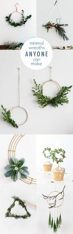 Minimal DIY Wreath Ideas @idlehandsawake