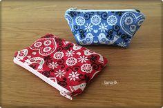 Kapsička so zipsom / Zip pouch - free pattern Pouch, Wallet, Keds, Free Pattern, Coin Purse, Purses, Handbags, Sachets, Porch