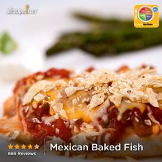 Mexican Baked Fish from Allrecipes.com #myplate #protein