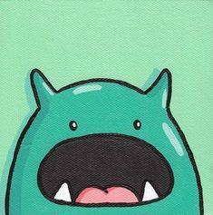 cute monsters mug Illustration Mignonne, Cute Illustration, Green Monsters, Cute Monsters, Wallpapers Tumblr, Cute Wallpapers, Kawaii Drawings, Cute Drawings, Cocoppa Wallpaper