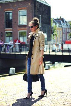 Trench Coat + Heels= Classy