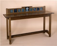 custom arts and crafts furniture|handmade New England sideboard|tiles