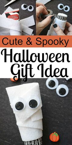Super Cute Halloween Gift Your Friends Will Love #Halloween #Halloweencraft #mummy #Halloweengiftideas