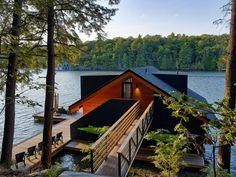 Modern Boathouse On The Lake - Muskoka, Ontario, Canada