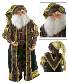 "Katherine's Collection Tapestry Christmas Collection 24"" Tapestry Santa Claus Doll Free Ship"