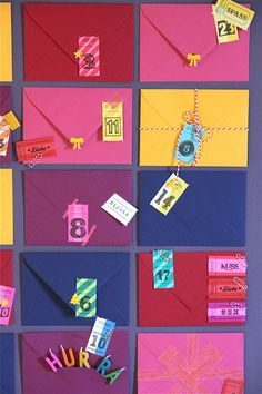 colourful christmas calender  http://www.ohhhmhhh.de
