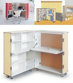 The Tiny Office: Trunk Station AD From Unplggd: Our site that untangles your wires (Cool Furniture Small Spaces) Folding Furniture, Smart Furniture, Space Saving Furniture, Furniture Design, Furniture Ideas, Furniture Dolly, Desk Ideas, Furniture Online, Office Furniture