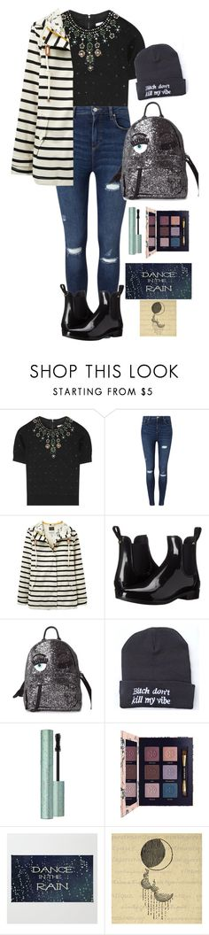 """Singing in the Rain"" by rosie-peachy ❤ liked on Polyvore featuring Alice + Olivia, Miss Selfridge, Joules, Sam Edelman, Chiara Ferragni and Tory Burch"