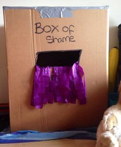Box of shame photo box for our little minions party