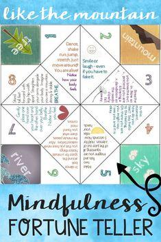 Fun Mindfulness Fortune Teller.