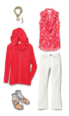 Check out five unique ways to mix and match the Crush Top with other cabi items!  My online store is open 24/7 for your shopping pleasure. jeanettemurphey.cabionline.com