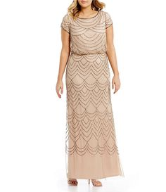 c6aa8734ecf Adrianna Papell Plus Beaded Blouson Gown-Dillard s Adrianna Papell
