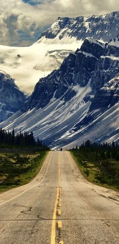 Road less traveled: Banff National Park in Alberta, Canada.