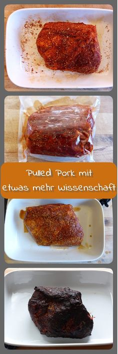 Pulled Pork mit etwas mehr Wissenschaft - meat meets me Bbq, Barbeque Sauce, Barbecue Recipes, Pulled Pork Burger, Food Design, Grill N Chill, Smoking Meat, Sous Vide, Grills