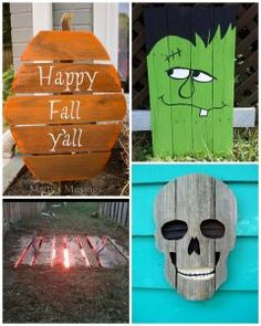 wood pallet halloween decorations more