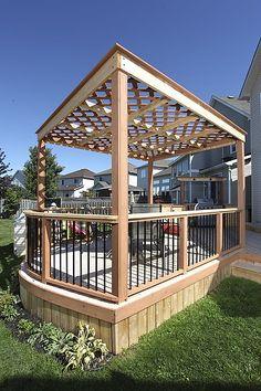 #Deck built with #Deckorators Deck Railing and Accessories