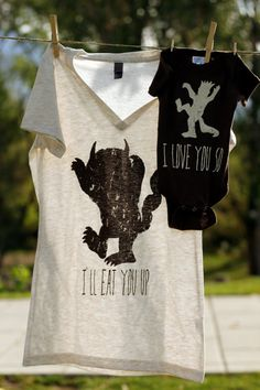 @Jade Payne- I should have bought this for you and baby!   Mommy and Me Shirt Set Where the Wild Things by littletreetopsbaby, $30.00