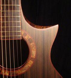 Joel Stehr guitar. Sinker Redwood top.