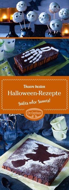 Unsere besten Halloween-Rezepte: Auf der Suche nach gruseligen Halloween-Party-Rezepten? Einfach die verkleideten Gäste mit coolen Halloween Rezepten überraschen.