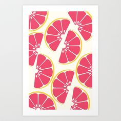 Citrus: Grapefruit Art Print by Amy Newhouse - $16.00