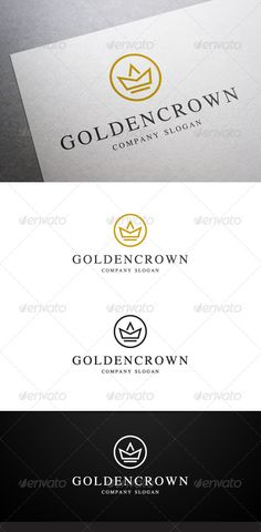 Golden Crown Logo — Vector EPS #royal #restaurant • Available here → https://graphicriver.net/item/golden-crown-logo/6402987?ref=pxcr