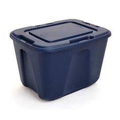 Essential Home 18-Gallon Royal Blue Tote