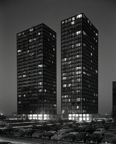 Lake Shore Dr. Apartments | Mies Van der Rohe. Chicago, IL 1950