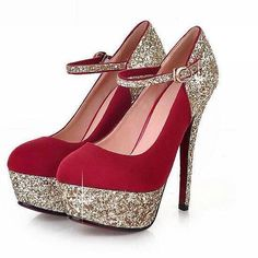 very pretty high heels i wish they were silver or teal