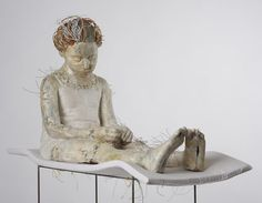 Artistaday.com : Athens, Greece artist Vally Nomidou  Sculptures of the figure using only paper and cardboard.