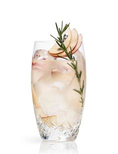 Fall/Winter in a glass! Apple Rickey with Rosemary. Best Cocktails and Drinks - Town & Country