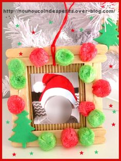 - Christmas ideas n fun crafts - noel Holiday Crafts For Kids, Kids Christmas, Holiday Fun, Fun Crafts, Diy And Crafts, Christmas Crafts, Christmas Decorations, Christmas Picture Frames, Christmas Pictures