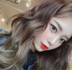 Asian Makeup, Korean Makeup, Pretty Hairstyles, Girl Hairstyles, Korean Hairstyles, Close Up, Korean Face, Ulzzang Korean Girl, Grunge Girl