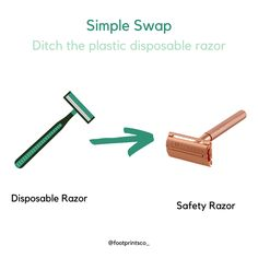 Looking for another simple swap AND a remarkable razor? This is a HUGE swap as most razors are not recyclable because they are built with multiple materials. This means that ALL those disposable razors and razor heads are ending up in a landfill, and they are never going to break down. Well, no worries, you can swap now by grabbing our Footprints Co. butterfly razor, we promise it will blow your mind! We promise that it is one swap you will NEVER regret making! Disposable Razors, Eco Store, Close Shave, Safety Razor, Price Point, Footprints, Butterfly, Simple, Butterflies
