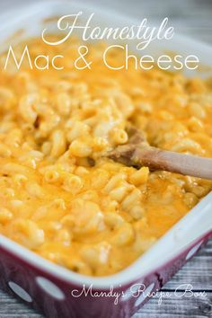 Homestyle Mac & Cheese | Mandy's Recipe Box {pinned 1,091 times}