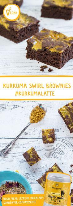 Diese Brownies sehen nicht nur toll aus, sie schmecken auch noch hervorragend. #kurkuma #tumeric #kurkumalatte #backen #vegan #veganbacken #gewürze #rezept #backrezepte #brownie #schokokuchen #kuchen #kurkumakuchen Brownies, Mystery Dinner, Cake Flavors, Trifle, Vegan Life, Easy Desserts, Oreo, Peanut Butter, Clean Eating