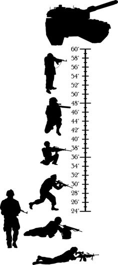 Army Soldiers Growth Chart Kids Wall Height by wallvinyldesigns, $34.00