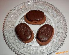 Plněné čokoládové oválky