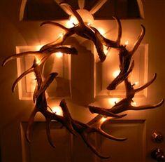 Love this antler wreath!