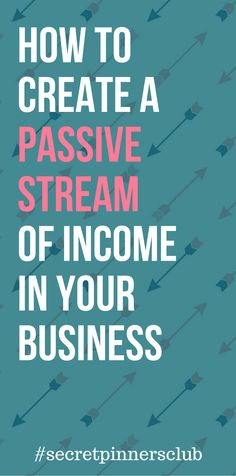 Learn how you can create a passive stream of income for your blog with Pinterest. #passiveincome #makemoneyblogging