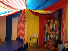 VBS Collossal Coaster World under the Big Top Circus Decorations, Carnival Themes, Big Top, Roller Coaster, Coasters, Porches, Pools, Yards, Chandelier