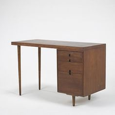 Desk for the Organic Design Exhibition, Red Lion Furniture Company, 1940., Designed by Charles Eames and Eero Saarinen.