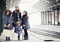 Abrigos niños, adolescentes y mamás. Miss Valentina Otoño Invierno 2011/2012.