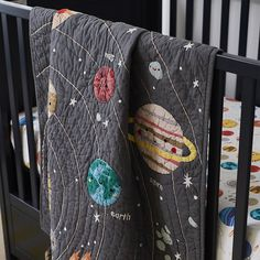 Our Outer Space baby quilt might not be the center of the universe. But it can be the center of your nursery. Outer Space Nursery, Space Themed Nursery, Boy Nursery Themes, Nursery Ideas, Project Nursery, Nursery Inspiration, Nursery Room, Bedroom Ideas, Bedroom Decor